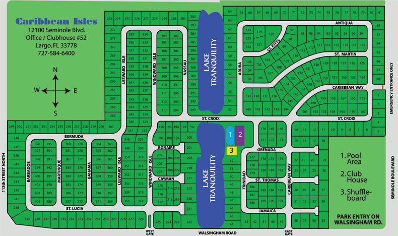 Pick your new home using the Caribbean Isles community site map